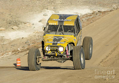 Beaches And Waves Rights Managed Images - 4WD Racing Action Royalty-Free Image by Michael R Erwine