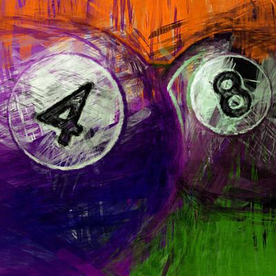 Rail Digital Art - 4 8 Billiards by David G Paul
