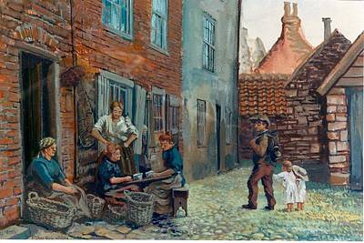 Painting - A01. Street Scene by Les Melton