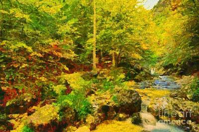 Fall Painting - Abruzzo National Park by George Atsametakis