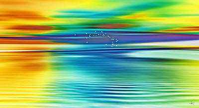 Abstract Dream Scapes Series Forever Dreams . ................  . Art Print