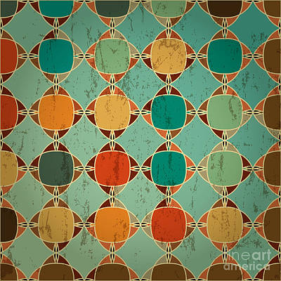 Digital Art - Abstract Geometric Pattern Background by Kirsten Hinte