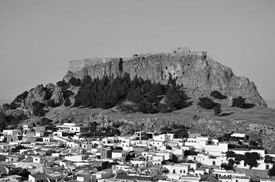 Rhodes Photograph - Acropolis And Village Of Lindos by George Atsametakis