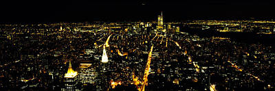 Crowd Scene Photograph - Aerial View Of A City, New York City by Panoramic Images