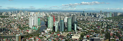 Photograph - Aerial View Of Cityscape, Makati by Panoramic Images