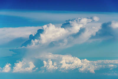Large Format Photograph - Aerial View Of Clouds, Indonesia (large by Keren Su