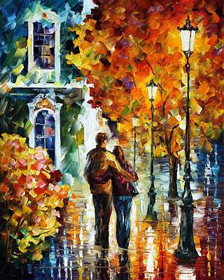 Abstract Realism Painting - After The Date by Leonid Afremov