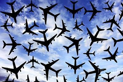 Photograph - Air Traffic, Conceptual Image by Victor de Schwanberg