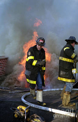 Photograph - 4 Alarm Apartment House Fire by Steven Spak