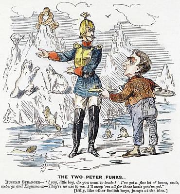 Folly Painting - Alaska Purchase Cartoon by Granger