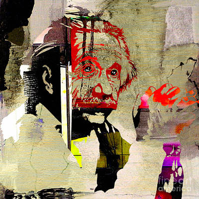 Physics Mixed Media - Albert Einstein by Marvin Blaine