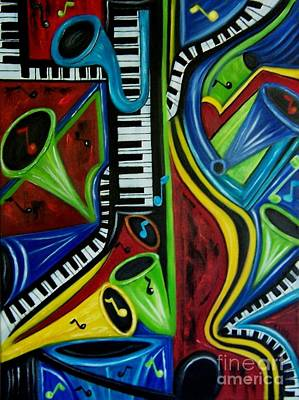 Painting - All That Jazz by Karen Day-Vath