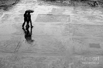 Wait Photograph - Alone In The Rain by Michal Bednarek