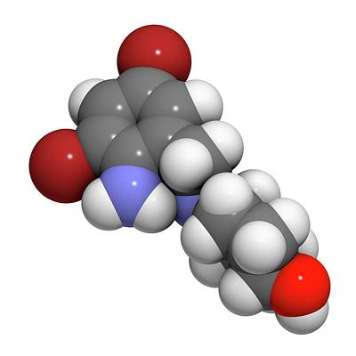 Cough Medicine Photograph - Ambroxol Secretolytic Drug Molecule by Molekuul