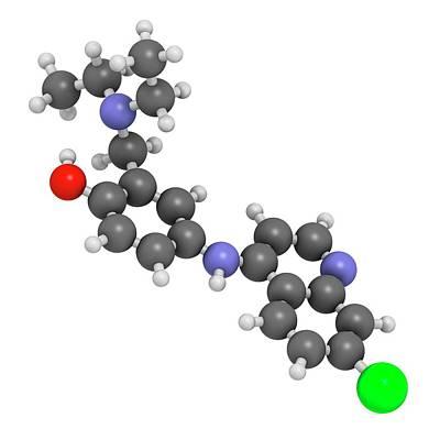 Amodiaquine Anti-malarial Drug Molecule Art Print