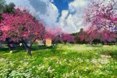 Painting - Ancient Olympia During Springtime by George Atsametakis