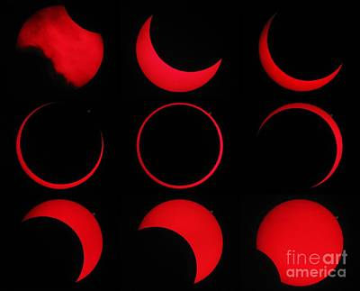3 October Photograph - Annular Solar Eclipse by Laurent Laveder