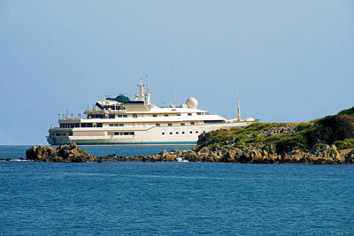 Collection Photograph - Antibes - Superyachts Of Billionaires by Christine Till