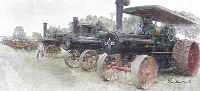 30-55 Years Old Pastel - Antique Tractors by Tim Mulholland