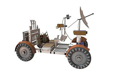 Mechanical Engineering Photograph - Apollo Lunar Rover by Take 27 Ltd