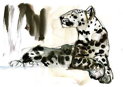 On Paper Painting - Arabian Leopard by Mark Adlington