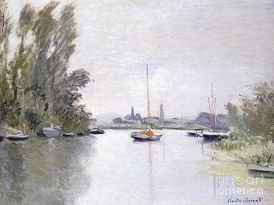 Reflecting Water Painting - Argenteuil by Claude Monet