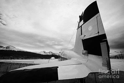 Dc-3 Plane Photograph - argentine navy dc-3 cabo de hornos Ushuaia Argentina by Joe Fox