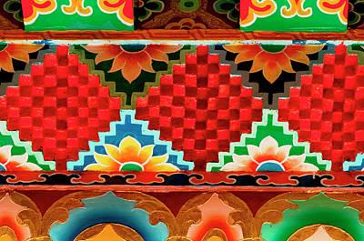 Tibetan Buddhism Photograph - Art In Buddhist Monastery Architecture by Jaina Mishra