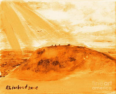 Painting - Arthur's Seat Pratt's Hill Edinburgh Scotland by Richard W Linford