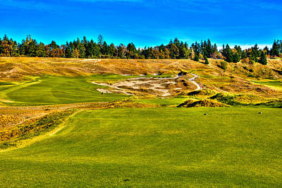 Golf Photograph - #4 At Chambers Bay Golf Course - Location Of The 2015 U.s. Open Championship by David Patterson
