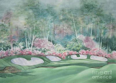 Golf Art Painting - Augusta National 13th Hole by Deborah Ronglien