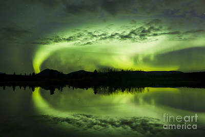 Aurora Borealis Over Fish Lake Art Print by Joseph Bradley