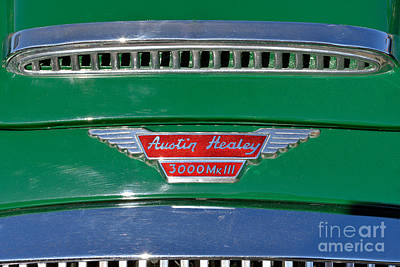 Logo Photograph - 1967 Austin Healey 3000 Mkiii by George Atsametakis