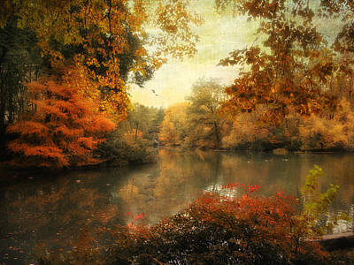 Fall Foliage Digital Art - Autumn Afternoon  by Jessica Jenney
