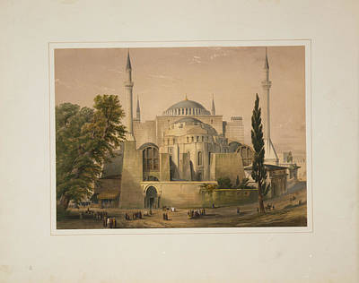 Calligraphic Painting - Ayasofya Mosque by Celestial Images