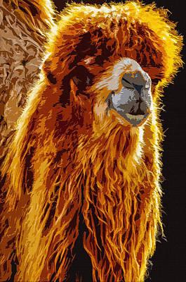 Nomadic Digital Art - Bactrian Camel by Brian Stevens