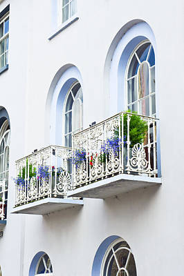 Window Wall Art - Photograph - Balconies by Tom Gowanlock