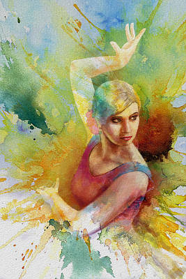 Fineartamerica Painting - Ballet Dancer by Corporate Art Task Force