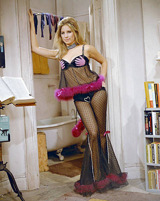 Barbra Streisand Photograph - Barbra Streisand In The Owl And The Pussycat  by Silver Screen