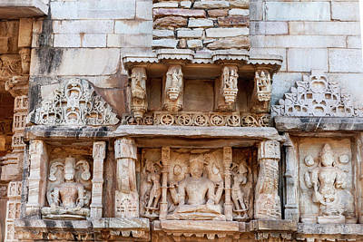 Bas Relief Chittaurgarh Citadel 6th Art Print
