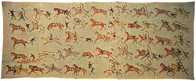 Pictograph Painting - Battle Of Little Bighorn by Granger