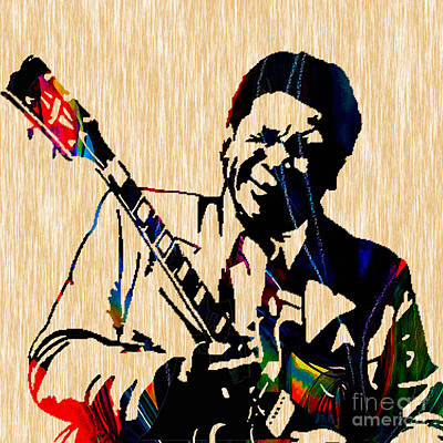 Guitar Mixed Media - Bb King Collection by Marvin Blaine