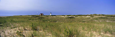 Race Point Photograph - Beach With Lighthouse by Panoramic Images