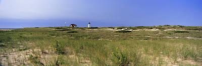 Beach With Lighthouse Art Print