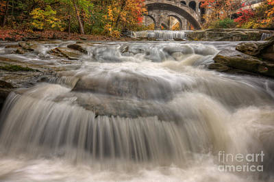 Berea Wall Art - Photograph - Beautiful Berea Falls In Autumn by Michael Shake