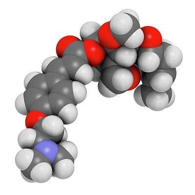 Beloranib Obesity Drug Molecule Art Print