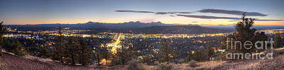 Sisters Photograph - Bend From Pilot Butte In Evening by Twenty Two North Photography
