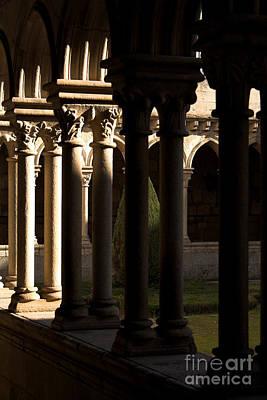 Columns Photograph - Benedictine Gothic Cloister by Jose Elias - Sofia Pereira