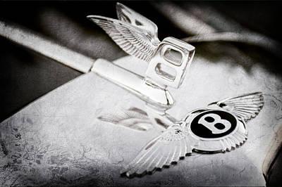 Old Bentley Photograph - Bentley Hood Ornament by Jill Reger