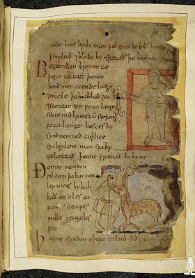 Beowulf An Epic Poem Art Print by British Library